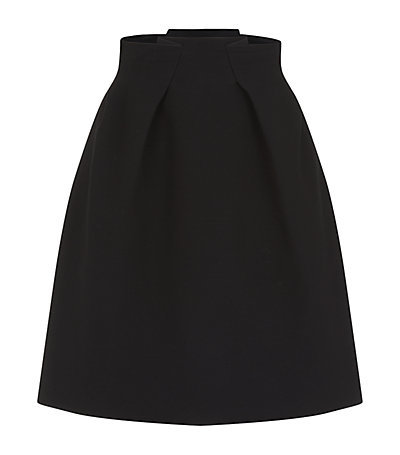 Kava Skirt - pattern: plain; fit: loose/voluminous; waist: high rise; predominant colour: black; occasions: casual, work, creative work; length: just above the knee; style: a-line; fibres: wool - mix; hip detail: adds bulk at the hips; pattern type: fabric; texture group: woven light midweight; season: s/s 2015; wardrobe: basic
