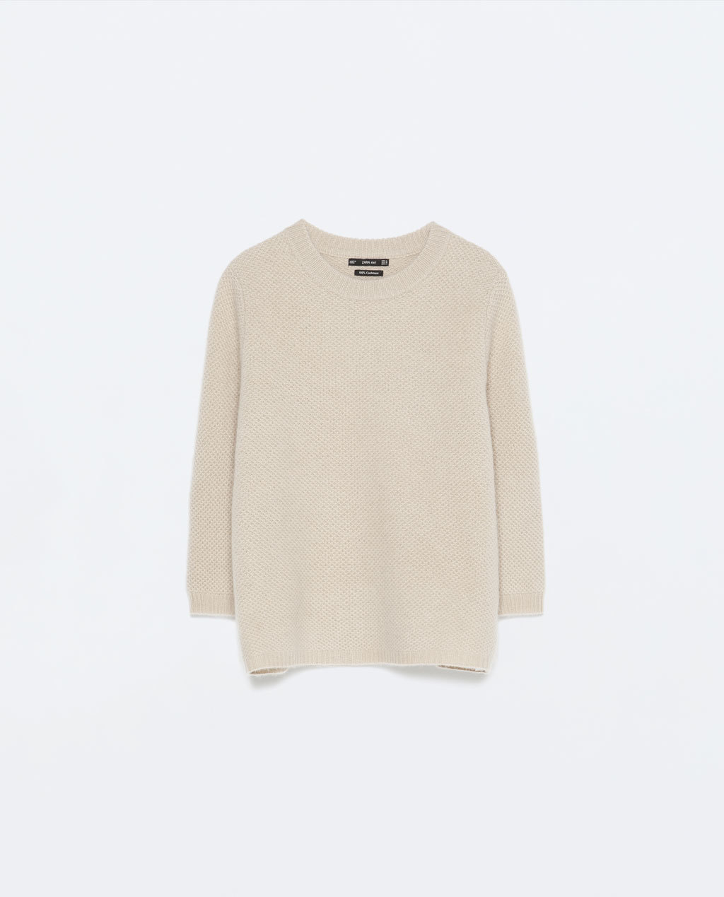 Cashmere Jumper - pattern: plain; style: standard; predominant colour: stone; occasions: casual, creative work; length: standard; fit: standard fit; neckline: crew; fibres: cashmere - 100%; sleeve length: long sleeve; sleeve style: standard; texture group: knits/crochet; pattern type: knitted - other; season: s/s 2015