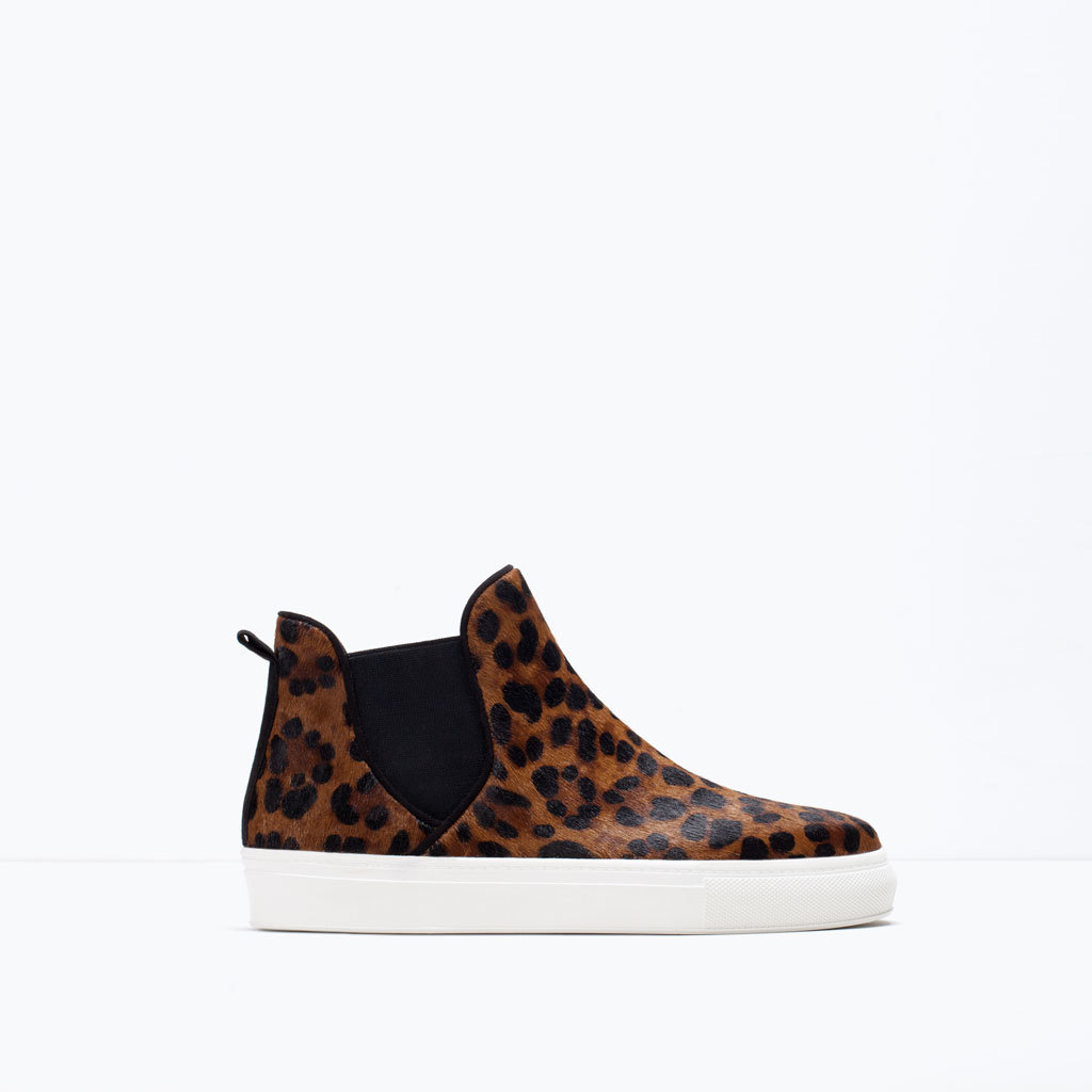 Fur And Leather Booties - predominant colour: tan; secondary colour: black; occasions: casual, creative work; material: leather; heel height: mid; heel: stiletto; toe: round toe; boot length: ankle boot; style: high top; finish: plain; pattern: animal print; shoe detail: moulded soul; season: s/s 2015