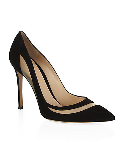 Xenon Suede Pump - predominant colour: black; occasions: evening, work, occasion; material: suede; heel: stiletto; toe: pointed toe; style: courts; finish: plain; pattern: plain; heel height: very high; season: s/s 2015; wardrobe: highlight