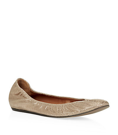 Lancelot Cama Ballet Pumps Bronze - predominant colour: champagne; occasions: casual, creative work; material: leather; heel height: flat; toe: round toe; style: ballerinas / pumps; finish: metallic; pattern: plain; season: s/s 2015; wardrobe: basic