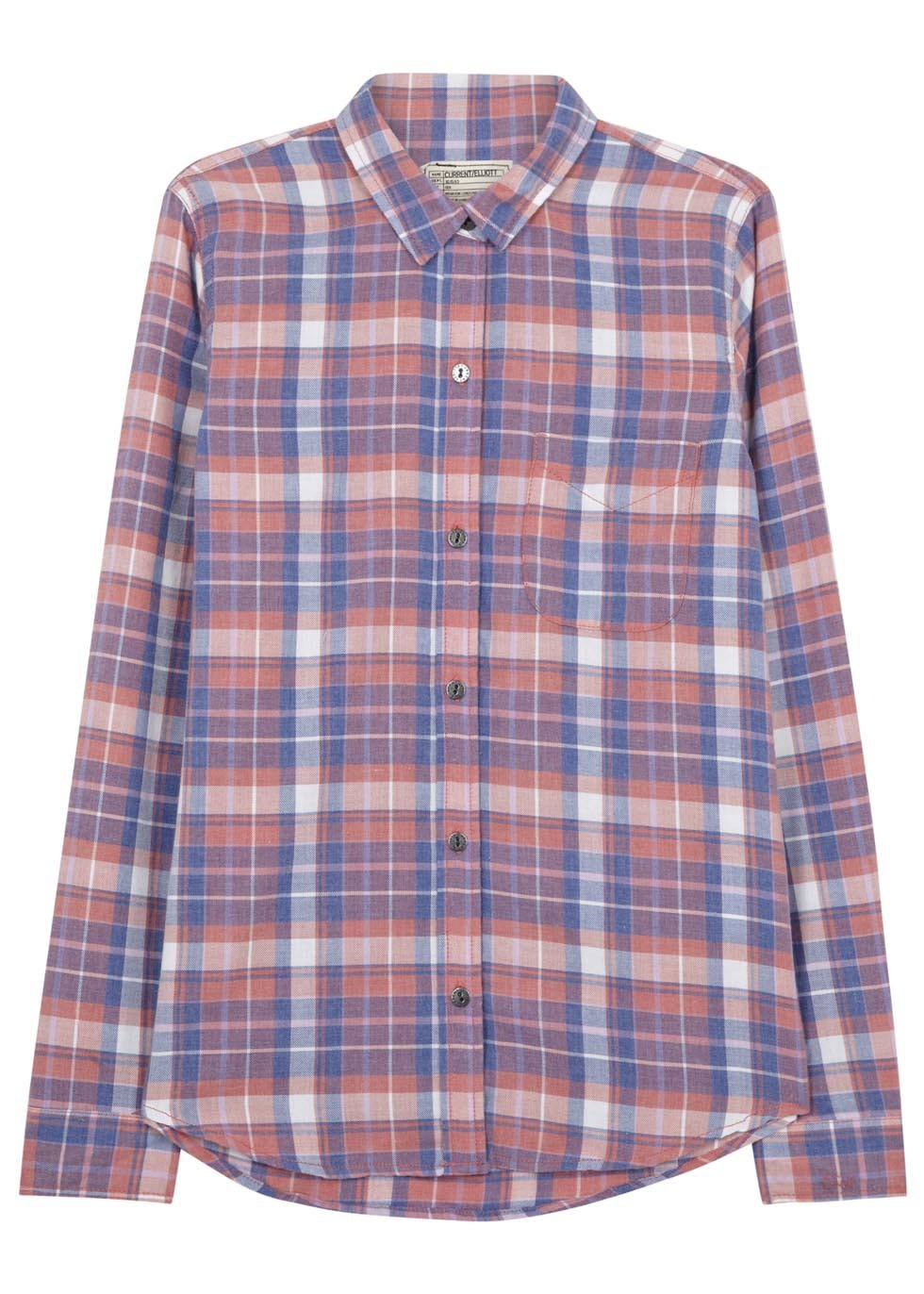 Stardust Plaid Flannel Shirt - neckline: shirt collar/peter pan/zip with opening; pattern: checked/gingham; style: shirt; occasions: casual, creative work; length: standard; fit: body skimming; predominant colour: multicoloured; sleeve length: long sleeve; sleeve style: standard; texture group: cotton feel fabrics; season: s/s 2015; multicoloured: multicoloured; wardrobe: highlight