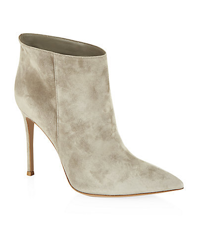 Bara Bith Suede Ankle Boot - predominant colour: stone; occasions: casual, creative work; material: suede; heel height: high; heel: stiletto; toe: pointed toe; boot length: ankle boot; style: standard; finish: plain; pattern: plain; season: s/s 2015