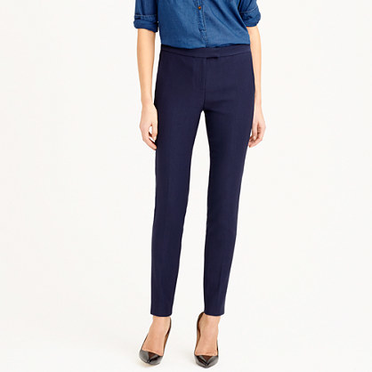 Ryder Pant - length: standard; pattern: plain; waist: high rise; predominant colour: navy; occasions: work, creative work; fibres: cotton - stretch; fit: slim leg; pattern type: fabric; texture group: woven light midweight; style: standard; season: s/s 2015; wardrobe: basic