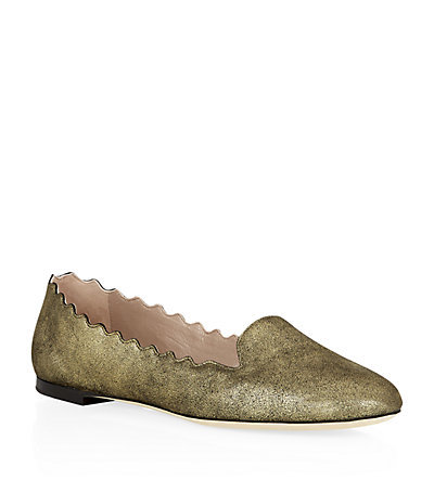 Santa Slipper Shoe - predominant colour: champagne; occasions: casual, evening, creative work; material: leather; heel height: flat; toe: round toe; style: ballerinas / pumps; finish: metallic; pattern: plain; season: s/s 2015; wardrobe: basic