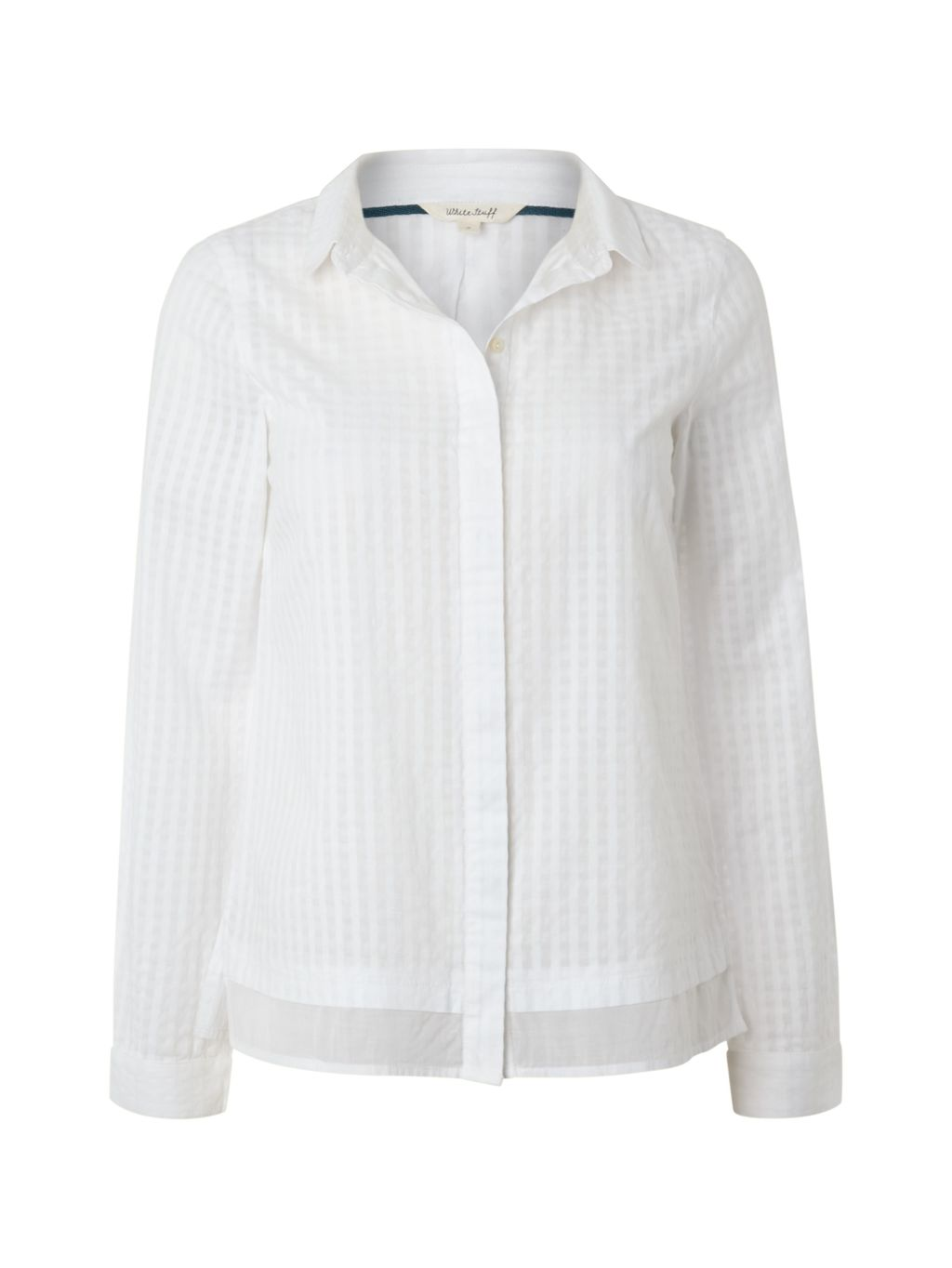Simplicity Shirt, White - neckline: shirt collar/peter pan/zip with opening; pattern: plain; style: shirt; predominant colour: white; occasions: work; length: standard; fibres: cotton - 100%; fit: straight cut; sleeve length: long sleeve; sleeve style: standard; texture group: cotton feel fabrics; pattern type: fabric; season: s/s 2015; wardrobe: basic
