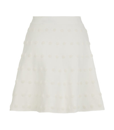 Gloriah Jacquard Skirt - length: mini; pattern: plain; fit: loose/voluminous; waist: high rise; predominant colour: ivory/cream; occasions: casual, creative work; style: a-line; fibres: cotton - mix; hip detail: subtle/flattering hip detail; pattern type: fabric; texture group: brocade/jacquard; season: s/s 2015; wardrobe: basic