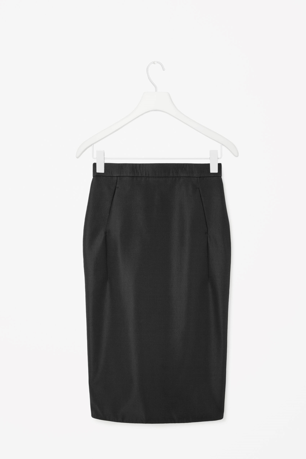 Technical Pencil Skirt - pattern: plain; style: pencil; fit: tailored/fitted; waist: mid/regular rise; predominant colour: black; occasions: evening, work, occasion, creative work; length: on the knee; pattern type: fabric; texture group: woven light midweight; season: s/s 2015; wardrobe: basic