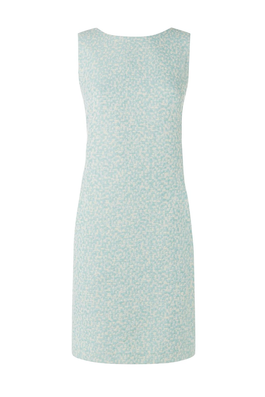 Lupine Dress, Blue - style: shift; fit: tailored/fitted; pattern: plain; sleeve style: sleeveless; predominant colour: pistachio; occasions: evening, occasion; length: just above the knee; neckline: crew; sleeve length: sleeveless; pattern type: fabric; texture group: woven light midweight; season: s/s 2015