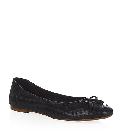 Luggage Ballerina Shoe Black - predominant colour: black; occasions: casual, work, creative work; material: leather; heel height: flat; toe: round toe; style: ballerinas / pumps; finish: plain; pattern: plain; embellishment: bow; season: s/s 2015; wardrobe: basic