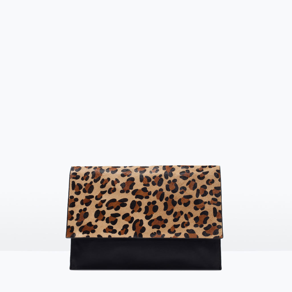 Animal Print Clutch - predominant colour: tan; secondary colour: tan; occasions: evening, occasion, creative work; type of pattern: standard; style: clutch; length: hand carry; size: standard; material: faux leather; pattern: animal print; finish: plain; season: s/s 2015; wardrobe: highlight