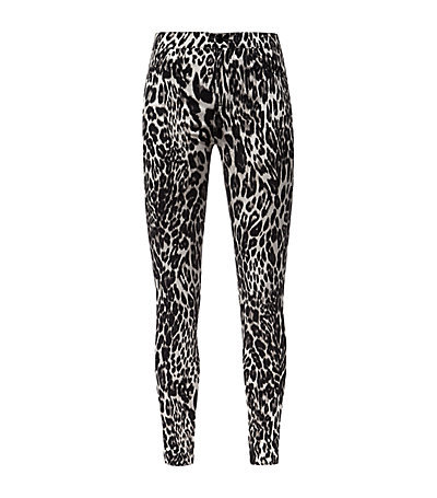 Leopard Print High Waist Skinny Jeans - style: skinny leg; length: standard; waist: mid/regular rise; secondary colour: white; predominant colour: black; occasions: casual, evening; jeans detail: washed/faded; texture group: denim; pattern type: fabric; pattern: animal print; season: s/s 2015; pattern size: standard (bottom); wardrobe: highlight