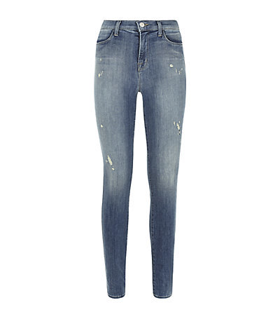 Close Cut Maria Jeans - style: skinny leg; length: standard; pattern: plain; waist: high rise; pocket detail: traditional 5 pocket; predominant colour: denim; occasions: casual; jeans detail: shading down centre of thigh; texture group: denim; pattern type: fabric; season: s/s 2015