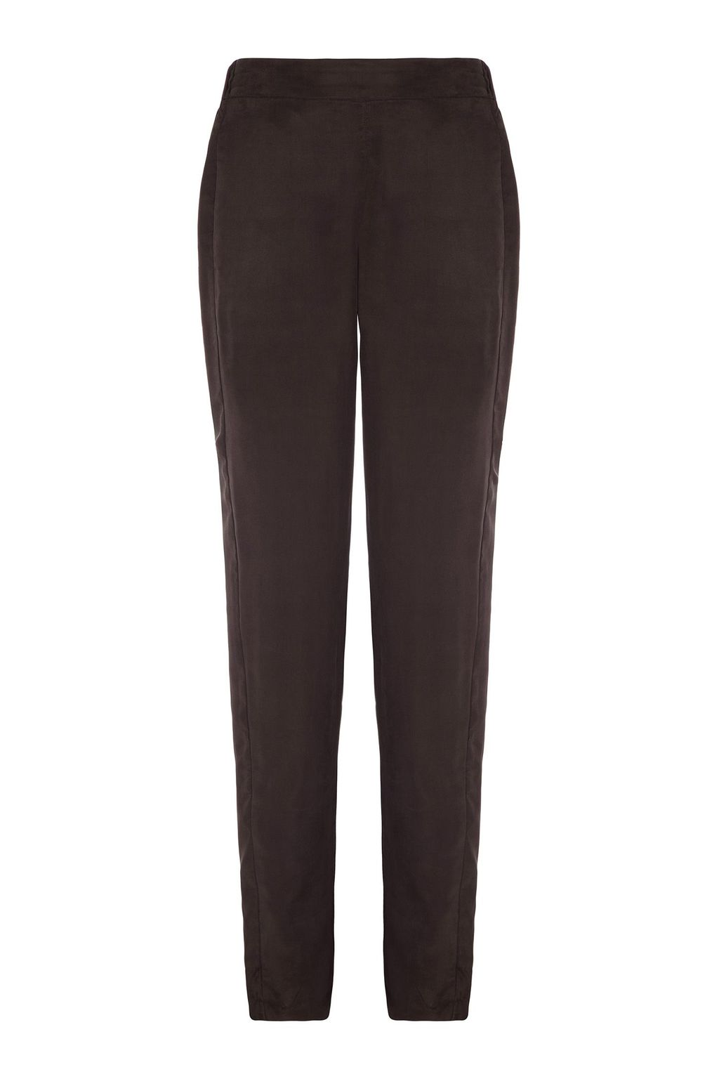 Nero Trouser, Black - pattern: plain; style: peg leg; waist: mid/regular rise; predominant colour: black; occasions: casual, evening, work, creative work; length: ankle length; fit: slim leg; pattern type: fabric; texture group: woven light midweight; season: s/s 2015; wardrobe: basic