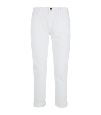 The Fling Slim Boyfriend Jeans - style: boyfriend; length: standard; pattern: plain; pocket detail: traditional 5 pocket; waist: mid/regular rise; predominant colour: white; occasions: casual; fibres: cotton - stretch; texture group: denim; pattern type: fabric; season: s/s 2015; wardrobe: highlight