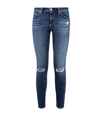 The Legging Ankle Jeans - length: standard; pattern: plain; style: jeggings; pocket detail: traditional 5 pocket; waist: mid/regular rise; predominant colour: navy; occasions: casual; fibres: cotton - stretch; jeans detail: whiskering, shading down centre of thigh, rips; texture group: denim; pattern type: fabric; season: s/s 2015; wardrobe: basic