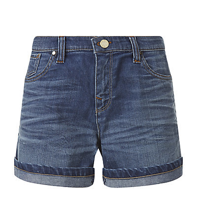 J09 Vintage Wash Denim Shorts - pattern: plain; pocket detail: traditional 5 pocket; waist: mid/regular rise; predominant colour: navy; occasions: casual, holiday; fibres: cotton - 100%; texture group: denim; pattern type: fabric; season: s/s 2015; style: denim; length: short shorts; fit: slim leg; wardrobe: holiday