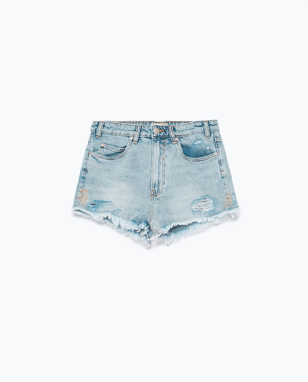 Vintage Shorts - pattern: plain; pocket detail: traditional 5 pocket; waist: mid/regular rise; predominant colour: denim; occasions: casual, holiday, creative work; fibres: cotton - stretch; texture group: denim; pattern type: fabric; season: s/s 2015; style: denim; length: short shorts; fit: slim leg; wardrobe: highlight