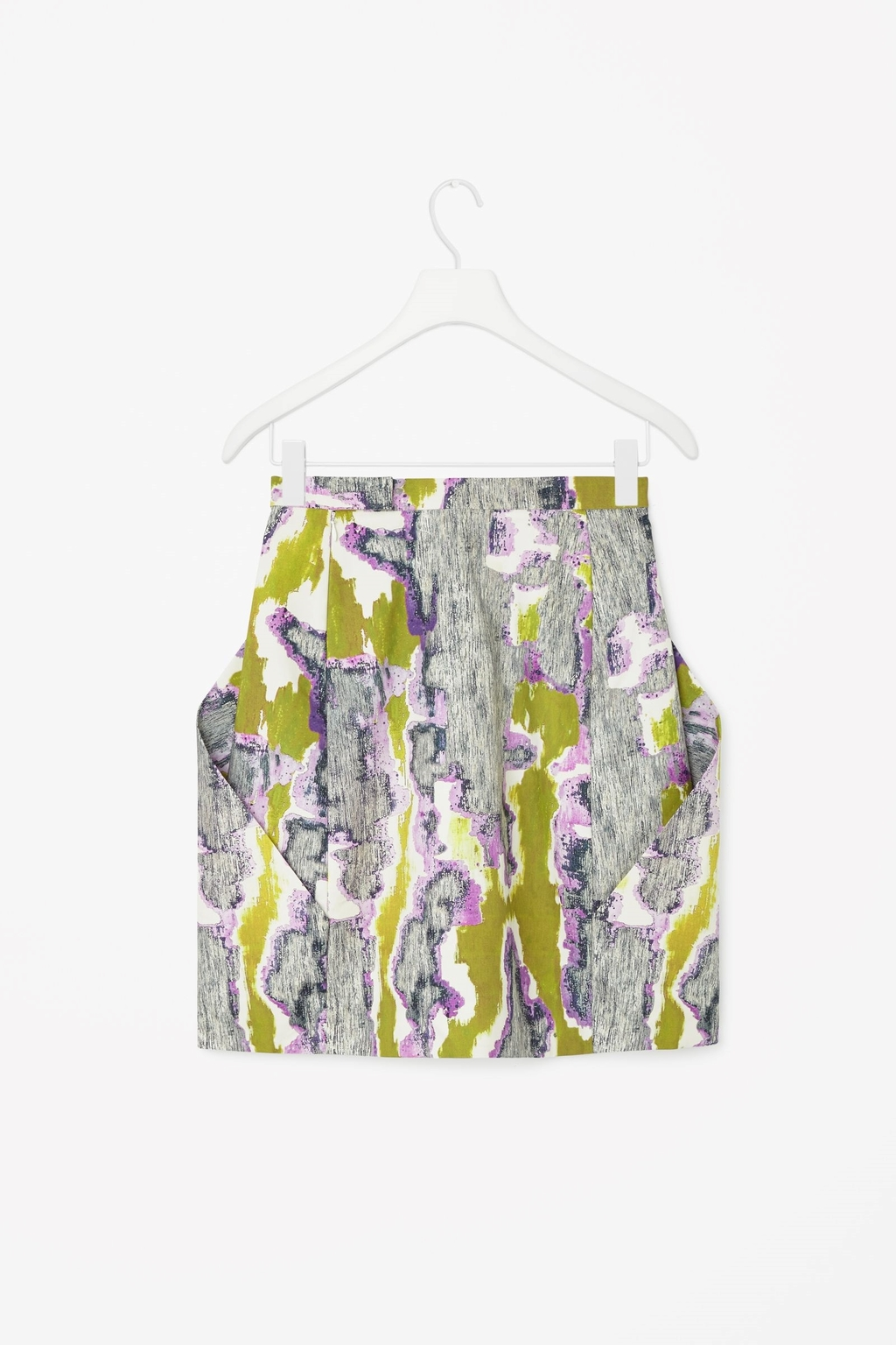 Printed Cotton Skirt - length: mini; style: straight; waist: mid/regular rise; occasions: casual, creative work; fibres: cotton - 100%; waist detail: feature waist detail; predominant colour: multicoloured; texture group: cotton feel fabrics; fit: straight cut; pattern type: fabric; pattern: patterned/print; season: s/s 2015; pattern size: big & busy (bottom); multicoloured: multicoloured; wardrobe: highlight