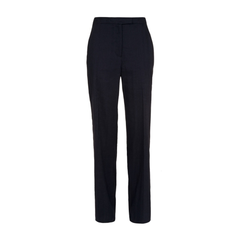 Libertia Trouser Navy - length: standard; pattern: plain; waist: high rise; predominant colour: navy; occasions: casual, work; fibres: linen - 100%; fit: straight leg; pattern type: fabric; texture group: other - light to midweight; style: standard; season: s/s 2015; wardrobe: basic