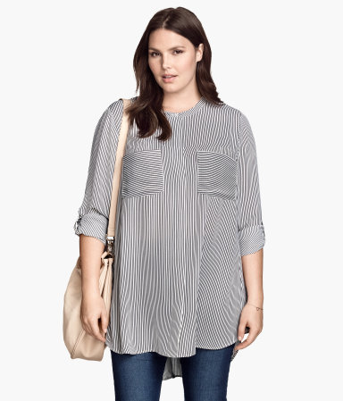 + Tunic - pattern: plain; length: below the bottom; style: tunic; predominant colour: light grey; occasions: casual, creative work; neckline: collarstand; fibres: polyester/polyamide - 100%; fit: loose; sleeve length: 3/4 length; sleeve style: standard; pattern type: fabric; texture group: other - light to midweight; season: s/s 2015; wardrobe: basic