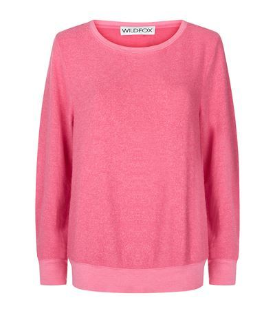 Baggy Beach Sweater - neckline: round neck; pattern: plain; style: standard; predominant colour: pink; occasions: casual, creative work; length: standard; fit: standard fit; sleeve length: long sleeve; sleeve style: standard; texture group: knits/crochet; pattern type: knitted - fine stitch; fibres: viscose/rayon - mix; season: s/s 2015; wardrobe: highlight