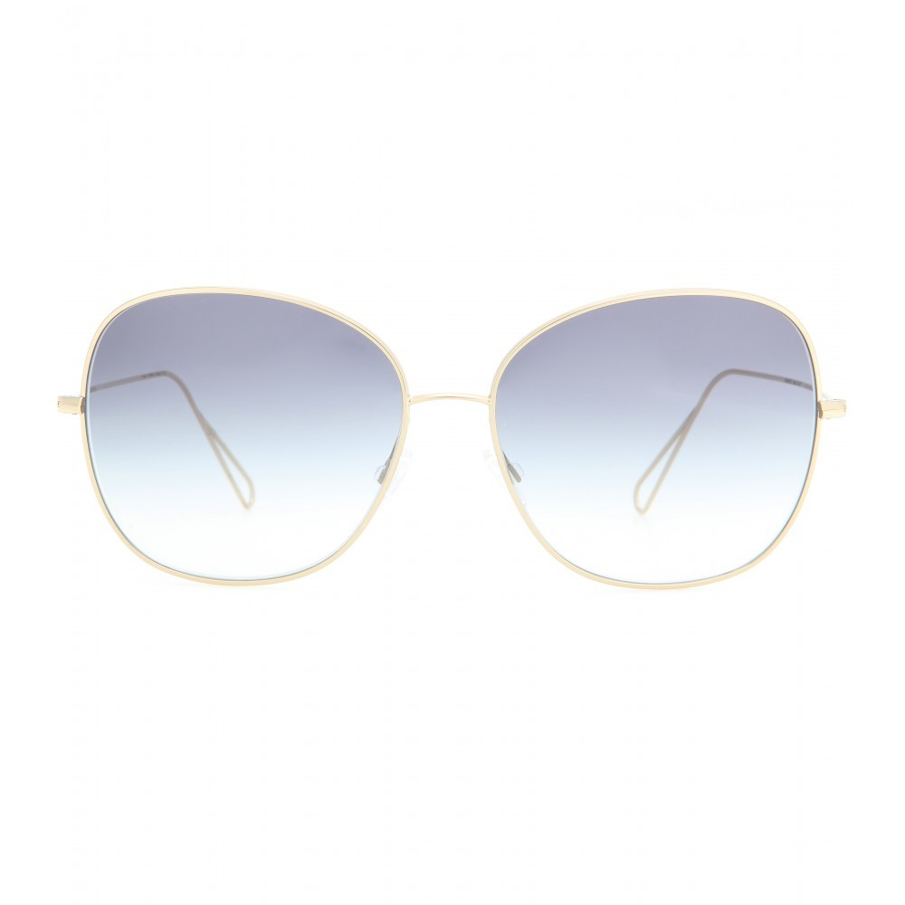Daria Sunglasses For Oliver Peoples - predominant colour: gold; secondary colour: light grey; occasions: casual, holiday; style: round; size: large; material: chain/metal; pattern: plain; finish: metallic; season: s/s 2015; wardrobe: basic