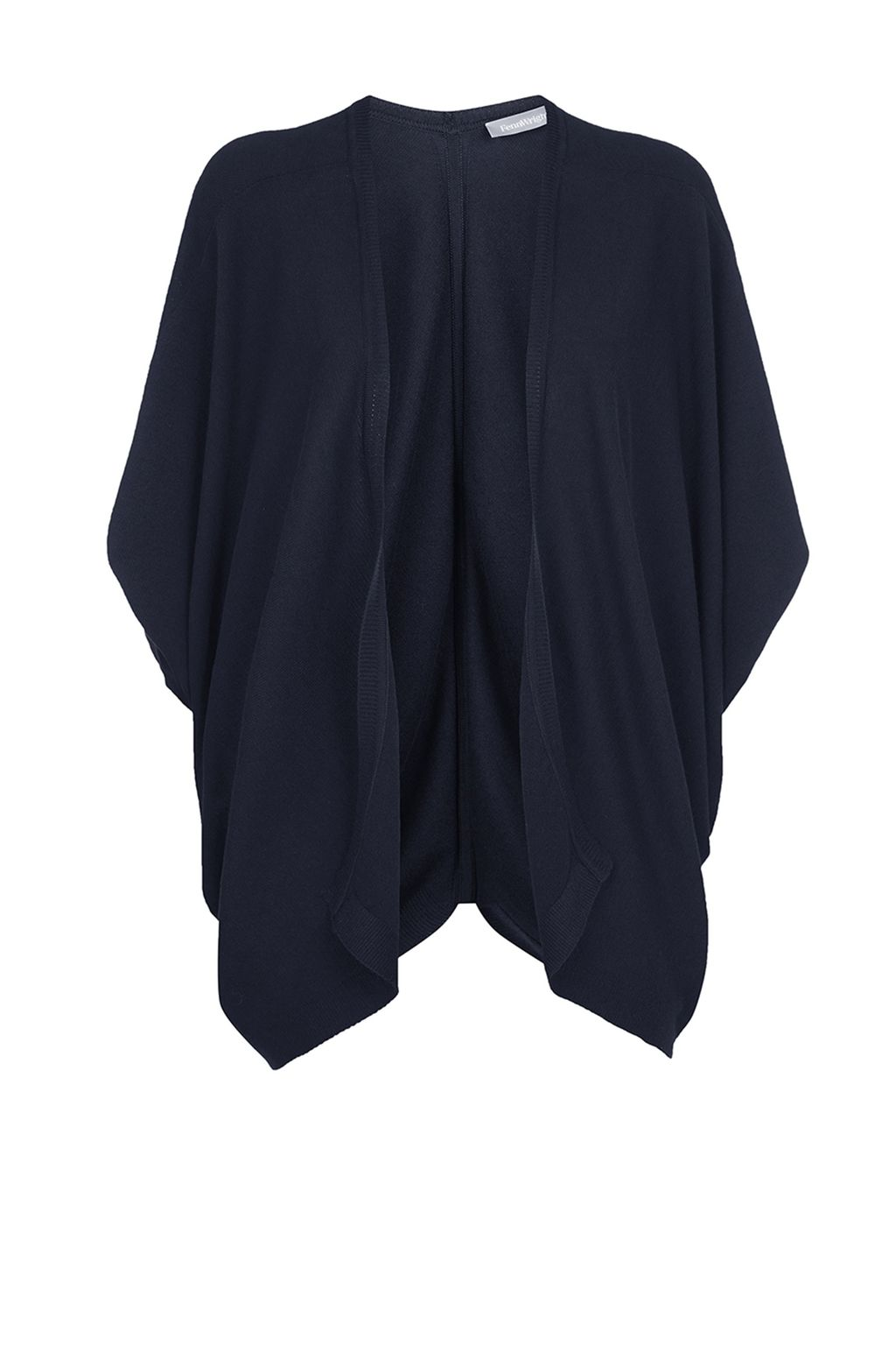 Petula Cardigan, Navy - sleeve style: dolman/batwing; pattern: plain; length: below the bottom; neckline: collarless open; style: open front; predominant colour: navy; occasions: casual, creative work; fibres: linen - mix; fit: loose; sleeve length: 3/4 length; texture group: knits/crochet; pattern type: fabric; season: s/s 2015; wardrobe: basic