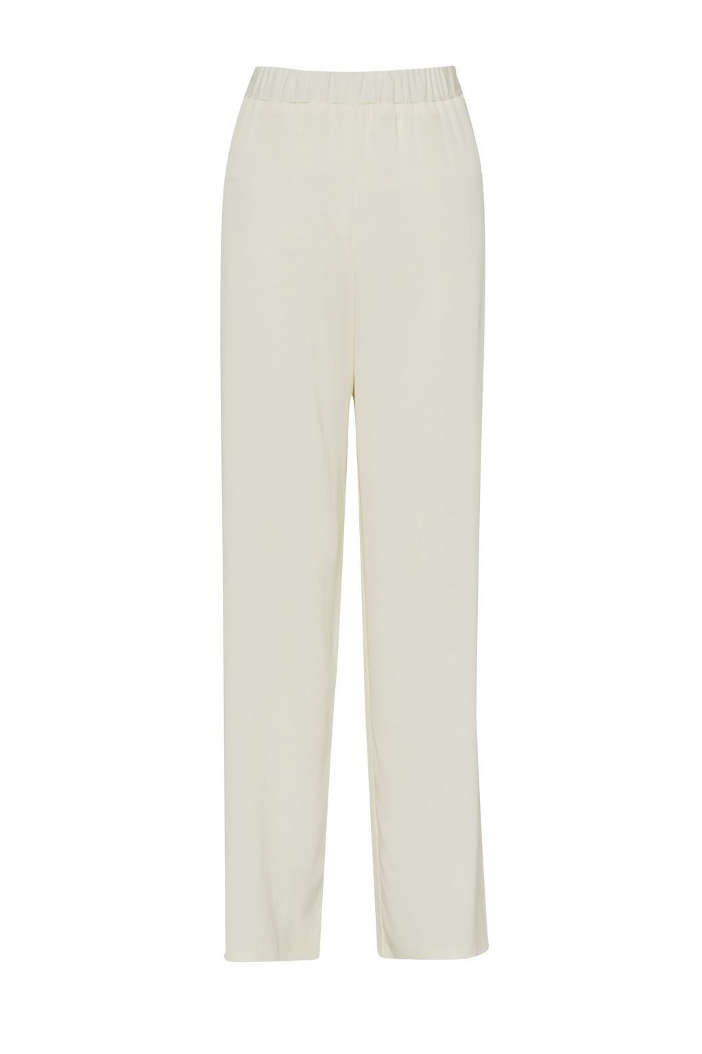 Cassie Drape Wide Leg Trousers, White - length: standard; pattern: plain; style: palazzo; waist: mid/regular rise; predominant colour: white; occasions: casual, evening, work; fibres: viscose/rayon - 100%; fit: wide leg; texture group: woven light midweight; season: s/s 2015; wardrobe: basic