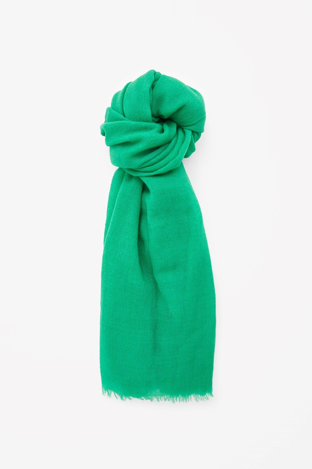 Fine Wool Scarf - predominant colour: emerald green; occasions: casual, evening, creative work; type of pattern: standard; style: regular; size: standard; material: fabric; pattern: plain; season: s/s 2015; wardrobe: highlight