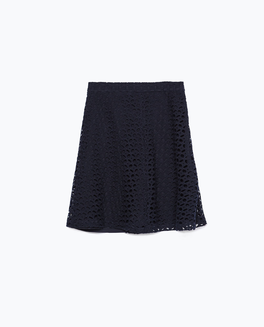 A Line Skirt - length: mid thigh; pattern: plain; fit: loose/voluminous; waist: high rise; predominant colour: black; occasions: casual, evening, creative work; style: a-line; fibres: cotton - 100%; hip detail: subtle/flattering hip detail; texture group: cotton feel fabrics; pattern type: fabric; season: s/s 2015; wardrobe: basic