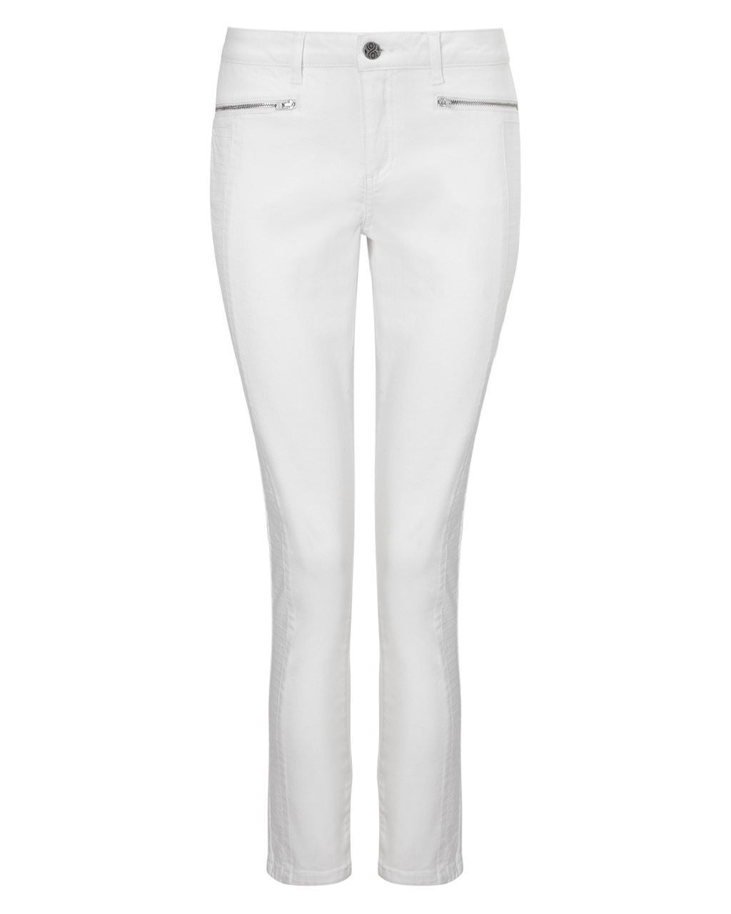 Victoria Seamed Jean - style: skinny leg; length: standard; pattern: plain; waist: mid/regular rise; predominant colour: white; occasions: casual, creative work; fibres: cotton - stretch; texture group: denim; pattern type: fabric; season: s/s 2015; wardrobe: highlight