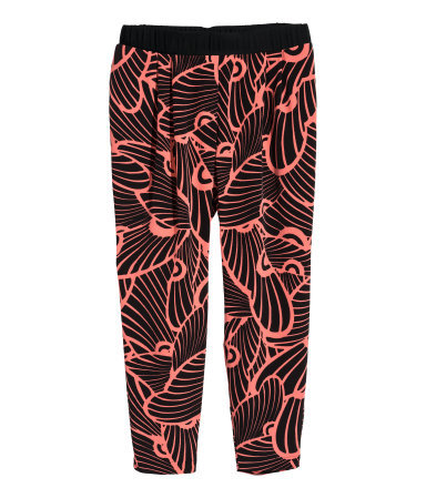 + Patterned Joggers - length: standard; style: peg leg; waist: mid/regular rise; secondary colour: pink; predominant colour: black; occasions: casual; fit: tapered; pattern type: fabric; pattern: patterned/print; texture group: woven light midweight; season: s/s 2015; multicoloured: multicoloured; wardrobe: highlight