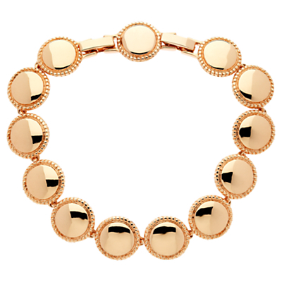 Rose Gold Plated Circle Bracelet, Rose Gold - predominant colour: gold; occasions: casual, evening, occasion; style: chain; size: standard; material: chain/metal; finish: metallic; season: s/s 2015
