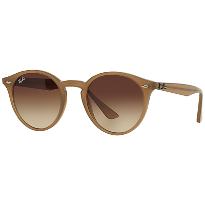 Rb2180 Round Framed Sunglasses - predominant colour: tan; occasions: casual, holiday; style: round; size: standard; material: plastic/rubber; pattern: plain; finish: plain; season: s/s 2015; wardrobe: highlight