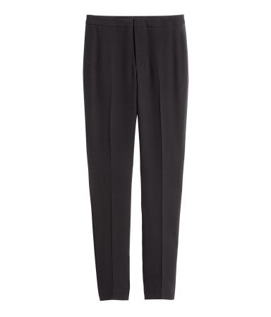 Mulberry Silk Tuxedo Trousers - length: standard; pattern: plain; pocket detail: pockets at the sides; hip detail: draws attention to hips; waist: mid/regular rise; predominant colour: black; occasions: evening, work, creative work; fibres: silk - 100%; texture group: silky - light; fit: slim leg; style: standard; season: s/s 2015; wardrobe: basic