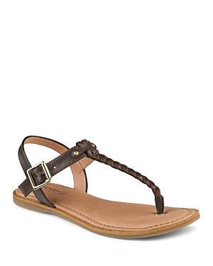 Flat T Strap Sandals Virginia - predominant colour: chocolate brown; material: leather; heel height: flat; ankle detail: ankle strap; heel: standard; toe: toe thongs; style: standard; occasions: holiday; finish: plain; pattern: plain; season: s/s 2015; wardrobe: basic