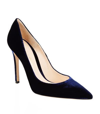 Bari Suede Court - predominant colour: navy; occasions: evening, work, occasion; material: suede; heel height: high; heel: stiletto; toe: pointed toe; style: courts; finish: plain; pattern: plain; season: s/s 2015; wardrobe: investment