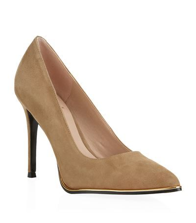 Beauty Suede Court - predominant colour: camel; occasions: evening, creative work; material: suede; heel: stiletto; toe: pointed toe; style: courts; finish: plain; pattern: plain; heel height: very high; season: s/s 2015; wardrobe: highlight
