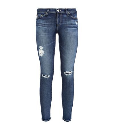 The Legging Ankle Jeans - style: skinny leg; pattern: plain; waist: low rise; pocket detail: traditional 5 pocket; predominant colour: denim; occasions: casual, evening; length: ankle length; fibres: cotton - stretch; jeans detail: washed/faded, rips; texture group: denim; pattern type: fabric; season: s/s 2015; wardrobe: basic