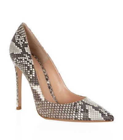 Bari Snakeskin Court - predominant colour: mid grey; secondary colour: light grey; occasions: evening, occasion, creative work; material: leather; heel: stiletto; toe: pointed toe; style: courts; finish: plain; pattern: animal print; heel height: very high; season: s/s 2015; multicoloured: multicoloured; wardrobe: highlight