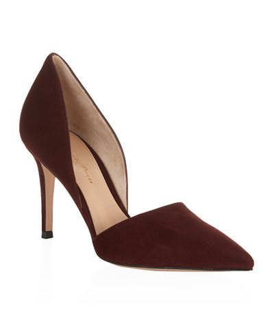 Rosemary D'orsay Suede Pump - predominant colour: burgundy; occasions: evening, occasion, creative work; material: suede; heel: stiletto; toe: pointed toe; style: courts; finish: plain; pattern: plain; heel height: very high; season: s/s 2015; wardrobe: highlight