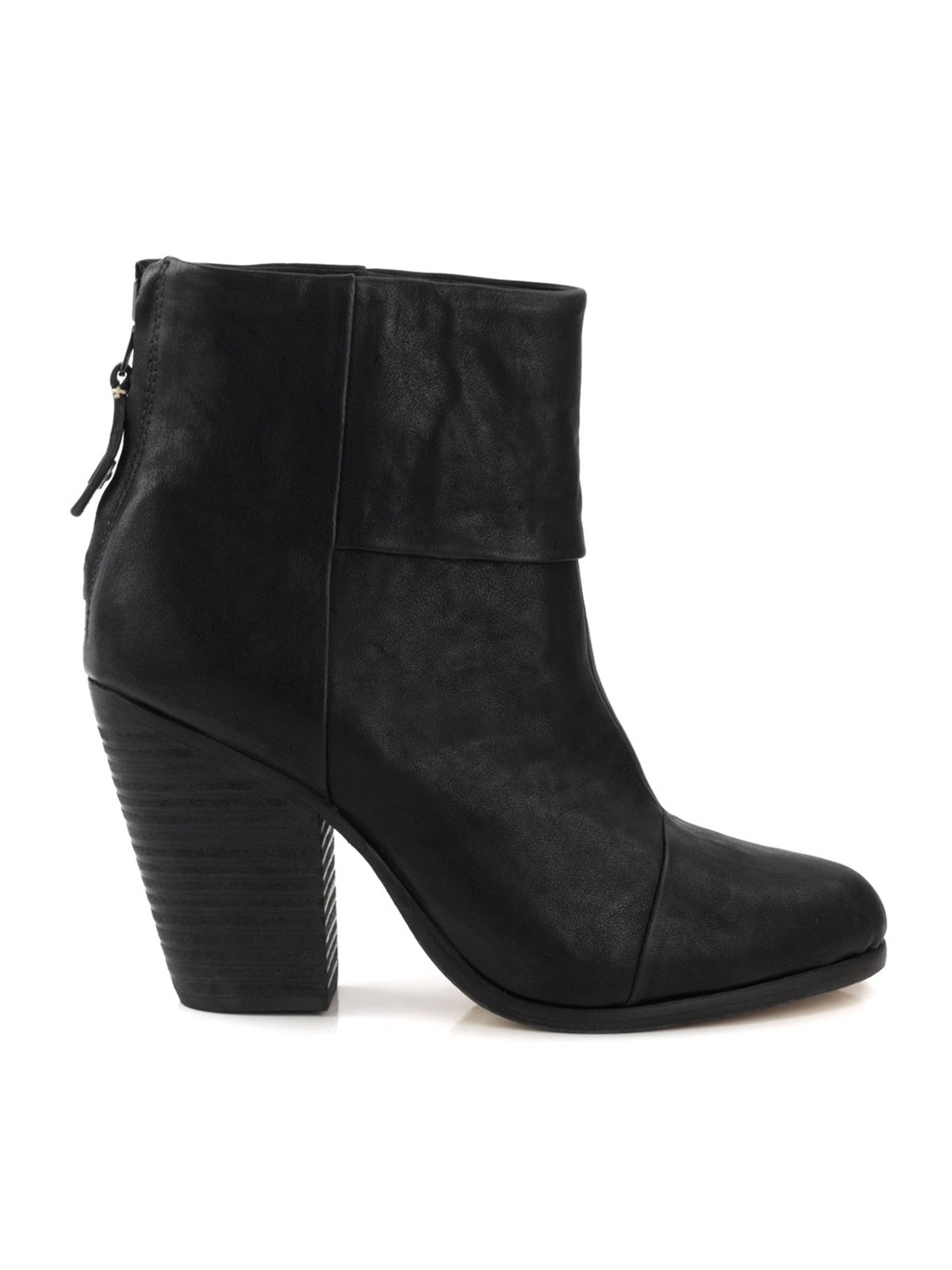 Rag Bone Classic Newbury Boot - predominant colour: navy; occasions: casual; material: suede; heel height: high; heel: block; toe: round toe; boot length: ankle boot; style: standard; finish: plain; pattern: plain; season: s/s 2015