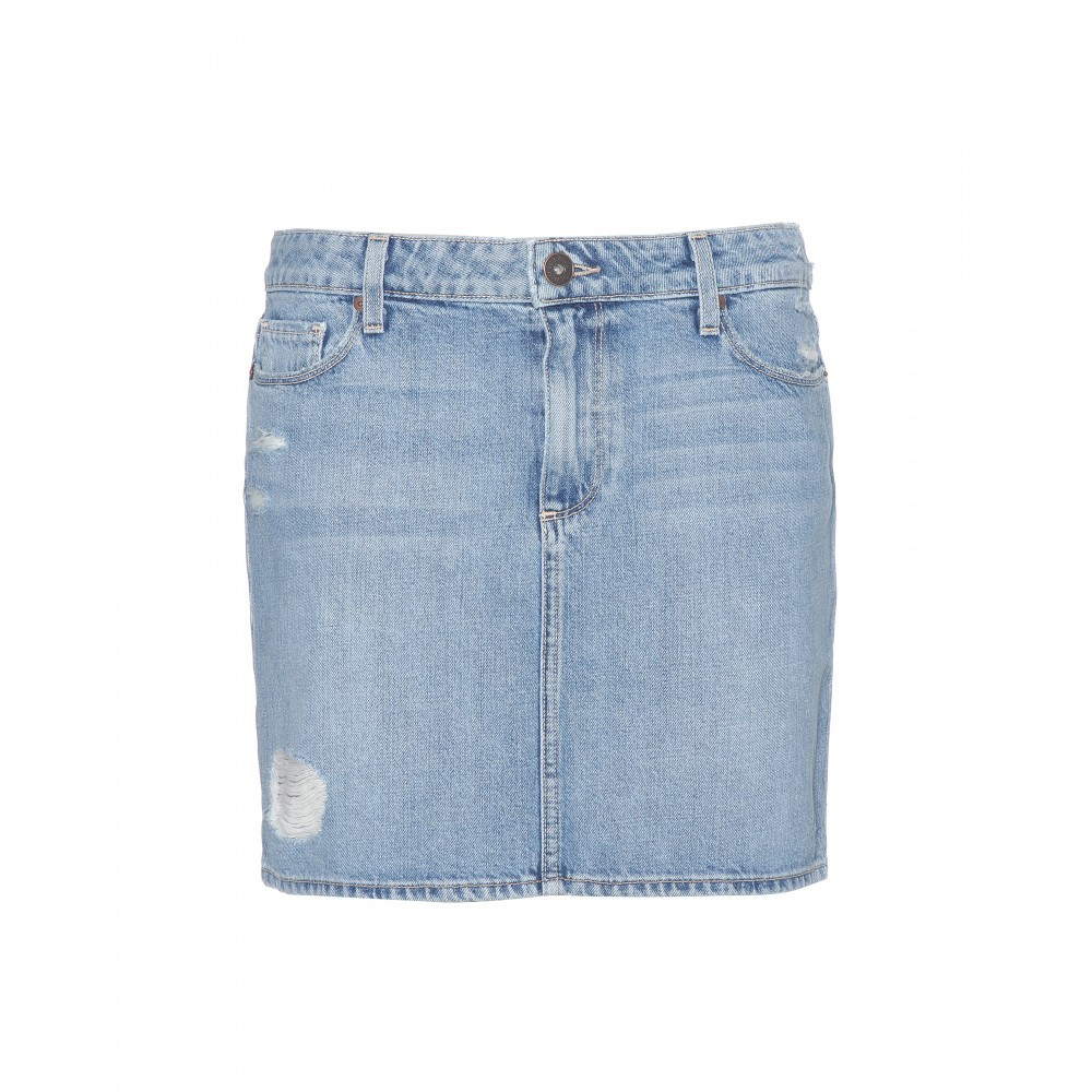 Jimmy Jimmy Denim Skirt - length: mini; pattern: plain; fit: tailored/fitted; waist: mid/regular rise; predominant colour: denim; occasions: casual; style: mini skirt; texture group: denim; season: s/s 2015; wardrobe: basic