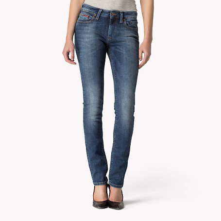 Naomi Slim Fit Jeans - length: standard; pattern: plain; waist: high rise; pocket detail: traditional 5 pocket; style: slim leg; predominant colour: denim; occasions: casual; fibres: cotton - stretch; jeans detail: whiskering, shading down centre of thigh; texture group: denim; pattern type: fabric; season: s/s 2015; wardrobe: basic