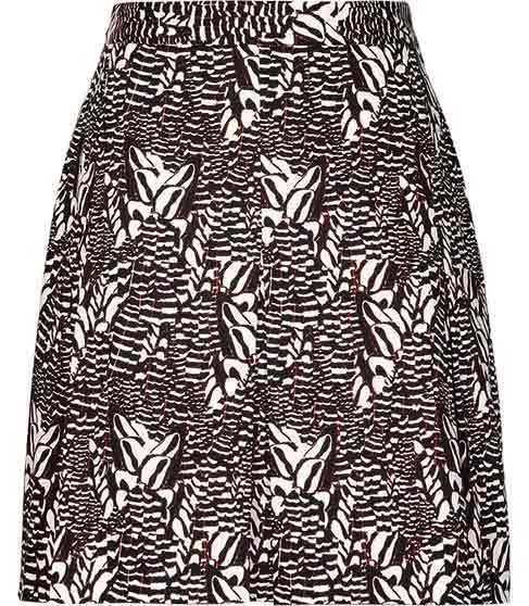 Sitara Printed A Line Skirt - length: mid thigh; fit: loose/voluminous; waist: high rise; predominant colour: black; occasions: casual, evening, creative work; style: a-line; fibres: cotton - mix; texture group: cotton feel fabrics; pattern type: fabric; pattern: patterned/print; season: s/s 2015; pattern size: big & busy (bottom); wardrobe: highlight