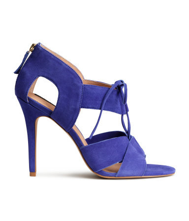 Leather Sandals - predominant colour: royal blue; occasions: evening; material: suede; heel height: high; heel: stiletto; toe: open toe/peeptoe; style: standard; finish: plain; pattern: plain; season: s/s 2015; wardrobe: event