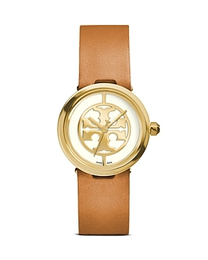 The Reva Watch, 28mm - predominant colour: tan; secondary colour: gold; occasions: casual, work, creative work; style: leather strap; size: standard; material: leather; finish: metallic; pattern: plain; season: s/s 2015