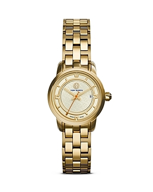 The Tory Watch, 28mm - predominant colour: gold; occasions: casual, work, creative work; style: metal bracelet; size: standard; material: chain/metal; finish: metallic; pattern: plain; season: s/s 2015
