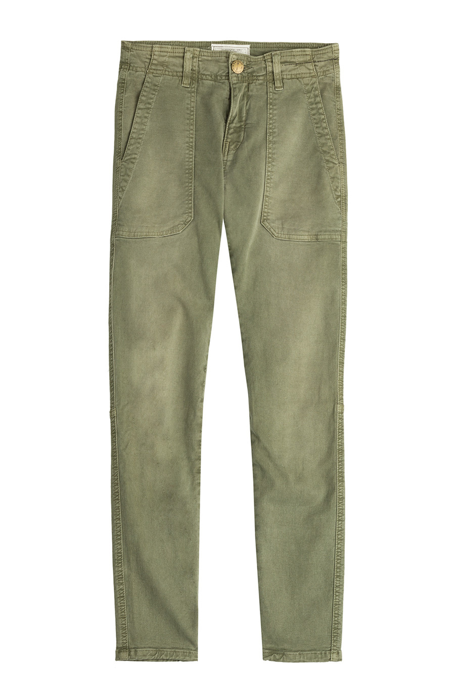 Skinny Cargo Pants - pattern: plain; waist: mid/regular rise; predominant colour: khaki; occasions: casual; length: ankle length; texture group: cotton feel fabrics; fit: slim leg; pattern type: fabric; style: standard; season: s/s 2015; wardrobe: basic